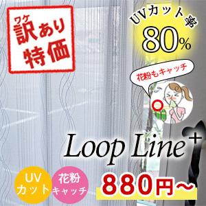 レースカーテン「ループライン+」写真1