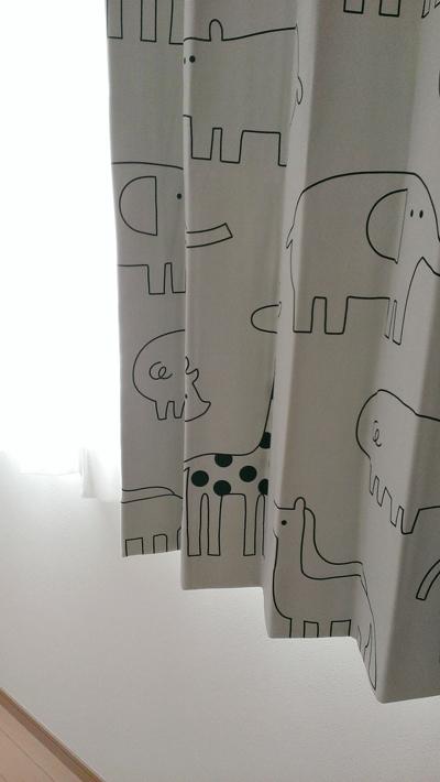 子供部屋の動物柄カーテンです!北欧の雰囲気漂う癒し系な動物が素敵★