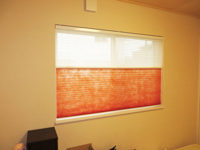 オレンジが空間のアクセントに!暖かみのある人気色です。