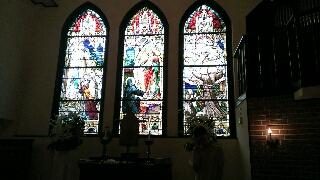 金沢モリス教会のステンドグラス