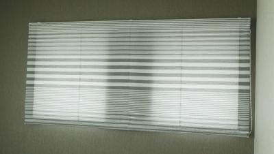 プレーンシェードスタイルといいます。 実は2つの小窓を1台のシェードで覆っているんです