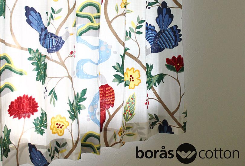北欧ブランドカーテン バードランド|boras cotton