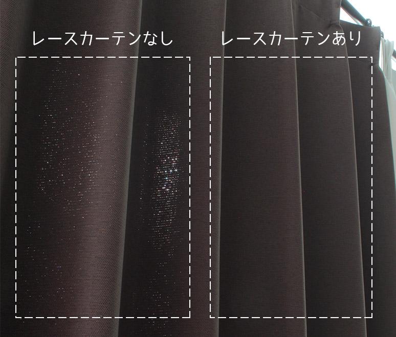 遮光カーテン+レースカーテン