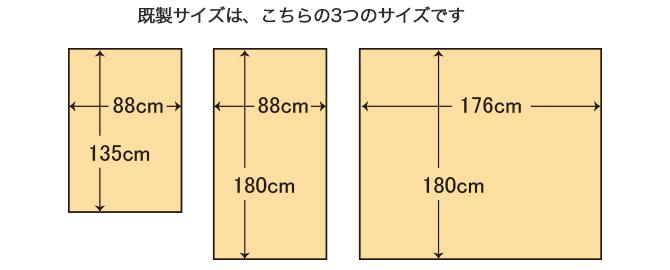 3つのサイズ