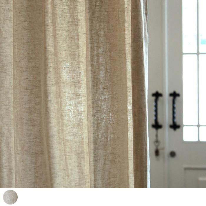 カーテンズおすすめのドレープカーテン キャンバス 天然繊維の綿麻カーテン