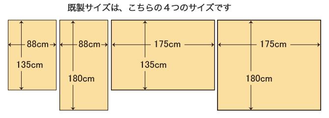 4つのサイズ