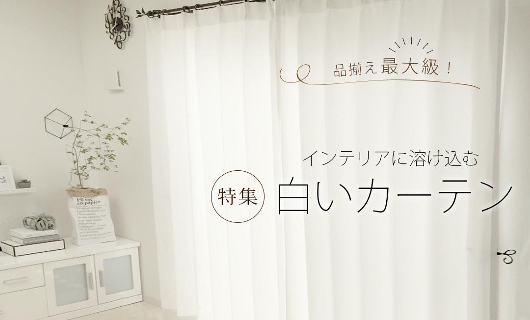 人気の白いカーテンでお部屋を明るく♪ 遮光生地も!